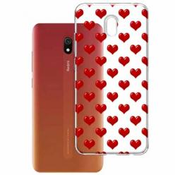 Etui na Xiaomi Redmi 8A - Czerwone serduszka.