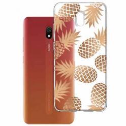 Etui na Xiaomi Redmi 8A - Złote ananasy.