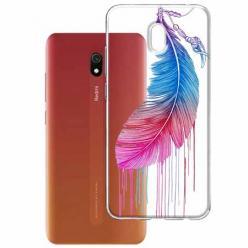 Etui na Xiaomi Redmi 8A - Watercolor piórko.