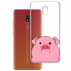 Etui na Xiaomi Redmi 8A - Słodka różowa świnka.