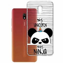 Etui na Xiaomi Redmi 8A - Ninja Unicorn - Jednorożec.