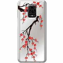 Etui na Xiaomi Redmi Note 9 Pro - Krzew kwitnącej wiśni.
