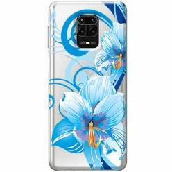Etui na Xiaomi Redmi Note 9 Pro - Niebieski kwiat północy.
