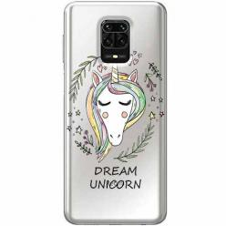 Etui na Xiaomi Redmi Note 9 Pro - Dream unicorn - Jednorożec.