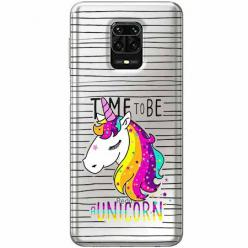Etui na Xiaomi Redmi Note 9 Pro - Time to be unicorn - Jednorożec.