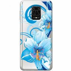 Etui na Xiaomi Redmi Note 9s - Niebieski kwiat północy.