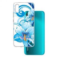 Etui na Xiaomi Redmi 9A - Niebieski kwiat północy.