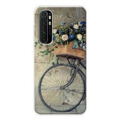 Etui na Xiaomi Mi Note 10 Lite - Rower z kwiatami