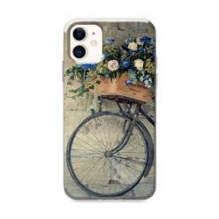 Etui na iPhone 12 - Rower z kwiatami