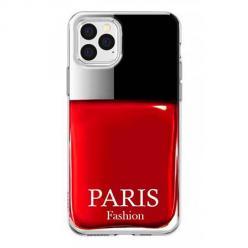 Etui na iPhone 12 Pro Max - Czerwony lakier do paznokci