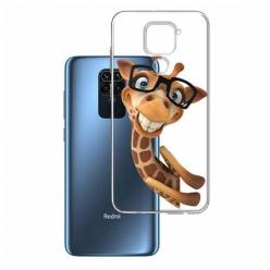 Etui na Xiaomi Redmi Note 9 - Wesoła żyrafa w okularach.