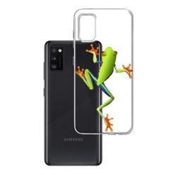 Etui na Samsung Galaxy A41 - Zielona żabka.