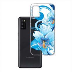Etui na Samsung Galaxy A41 - Niebieski kwiat północy.