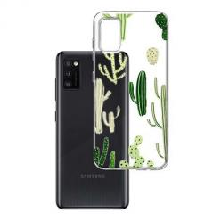 Etui na Samsung Galaxy A41 - Kaktusowy ogród.