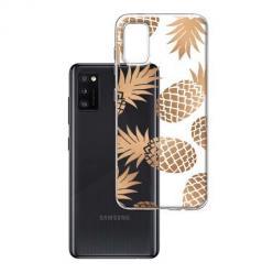 Etui na Samsung Galaxy A41 - Złote ananasy.