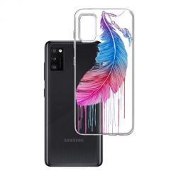 Etui na Samsung Galaxy A41 - Watercolor piórko.