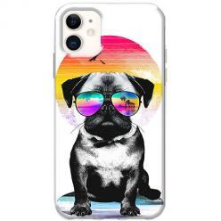 Etui na telefon Slim Case - Piesek w okularach