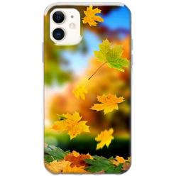 Etui na telefon Slim Case - Jesienne liście spadające