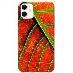 Etui na telefon Slim Case - Czerwony liść jesienny