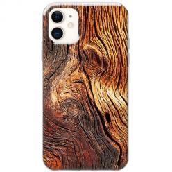 Etui na telefon Slim Case - Słoje drewniane