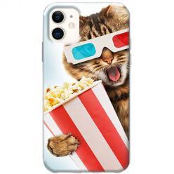 Etui na telefon Slim Case - Kot kinomaniak