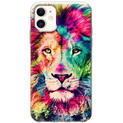 Etui na telefon Slim Case - Lew watercolor