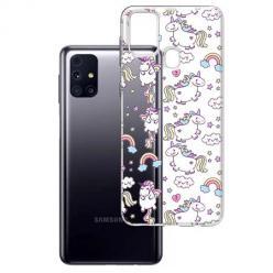 Etui na Samsung Galaxy M31s - Tęczowe jednorożce.