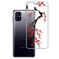 Etui na Samsung Galaxy M31s - Krzew kwitnącej wiśni.