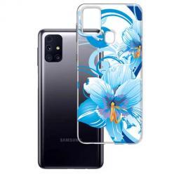 Etui na Samsung Galaxy M31s - Niebieski kwiat północy.