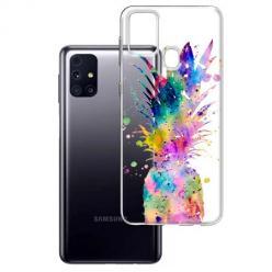 Etui na Samsung Galaxy M31s - Watercolor ananasowa eksplozja.