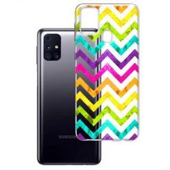 Etui na Samsung Galaxy M31s - Tęczowy przeplataniec.