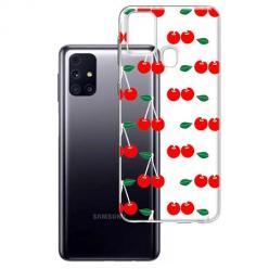 Etui na Samsung Galaxy M31s - Wiśniowa plejada.