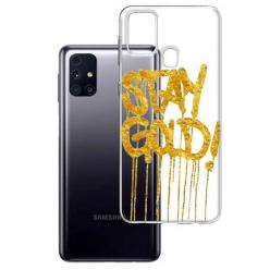 Etui na Samsung Galaxy M31s - Stay Gold.