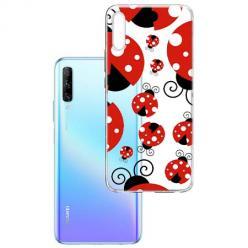 Etui na Huawei P Smart Pro 2019 - Czerwone wesołe biedronki.
