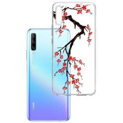 Etui na Huawei P Smart Pro 2019 - Krzew kwitnącej wiśni.