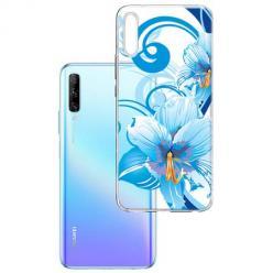 Etui na Huawei P Smart Pro 2019 - Niebieski kwiat północy.