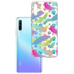 Etui na Huawei P Smart Pro 2019 - Tęczowe piórka.