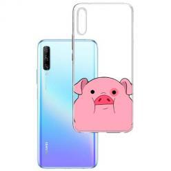 Etui na Huawei P Smart Pro 2019 - Słodka różowa świnka.
