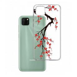 Etui na Huawei Y5P - Krzew kwitnącej wiśni.