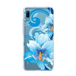 Etui na Huawei Y6 Pro 2019 - Niebieski kwiat północy.