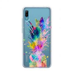 Etui na Huawei Y6 Pro 2019 - Watercolor ananasowa eksplozja.