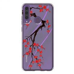 Etui na Huawei Y6P - Krzew kwitnącej wiśni.