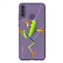 Etui na Huawei Y6P - Zielona żabka.