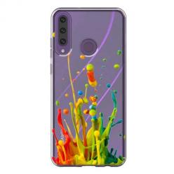 Etui na Huawei Y6P - Kolorowy splash.