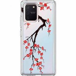 Etui na Samsung Galaxy S10 Lite - Krzew kwitnącej wiśni.