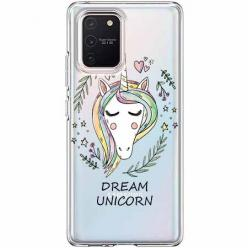 Etui na Samsung Galaxy S10 Lite - Dream unicorn - Jednorożec.