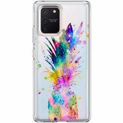 Etui na Samsung Galaxy S10 Lite - Watercolor ananasowa eksplozja.