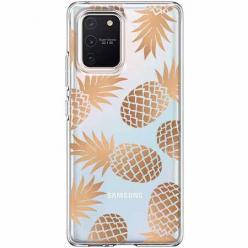 Etui na Samsung Galaxy S10 Lite - Złote ananasy.