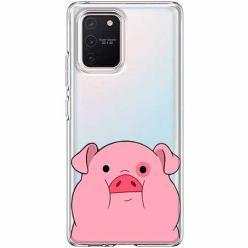 Etui na Samsung Galaxy S10 Lite - Słodka różowa świnka.