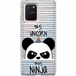 Etui na Samsung Galaxy S10 Lite - Ninja Unicorn - Jednorożec.